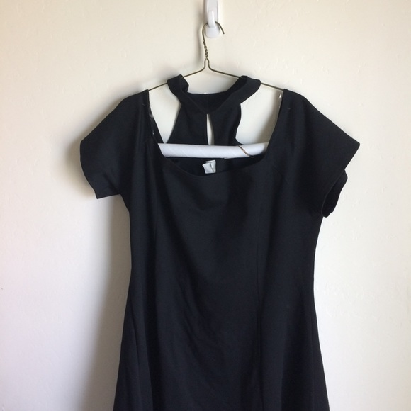 Dresses & Skirts - Dress Black Off the Shoulder Self Choker Size 4X